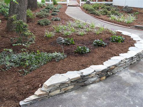 landscaping greensboro nc flagstone retaining wall ideas custom stonework