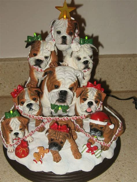 danbury mint the bulldog family christmas tree english