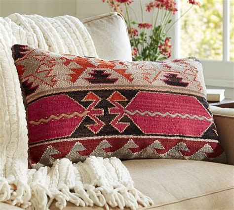 pottery barn sofa pillows cheyenne kilim lumbar pillow cover pottery barn