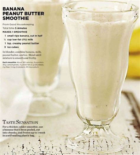 7 Smoothie Recipes by Banana Peanut Butter Smoothie Recipe Peanut Butter