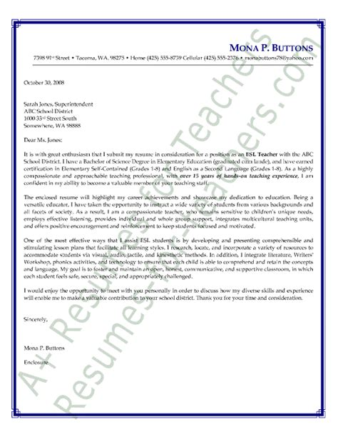 teach for america cover letter foreign language cover letter sle