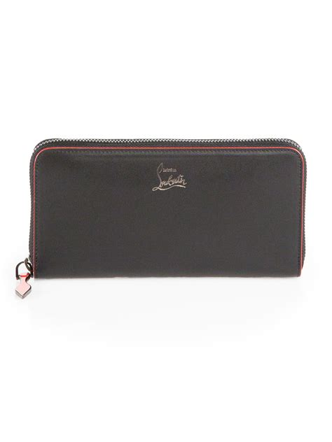 Christian Louboutin Panettone Wallet Black by Christian Louboutin Panettone Zip Around Wallet In Black Lyst