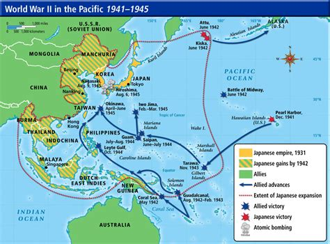 pacific theater ww map