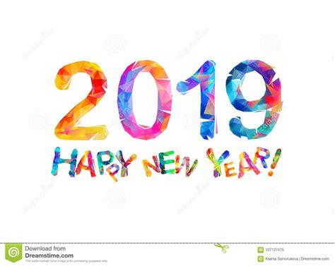 clipart buon anno buon anno 2019 scheda di congratulazione illustrazione