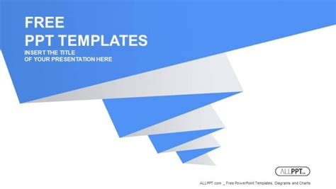 simple templates for ppt free download blue pleated shape on the white background powerpoint