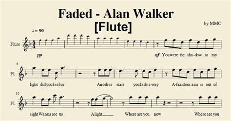 alan walker faded lyrics pdf 12lyrics faded alan walker flute sheet music by mmc muziek