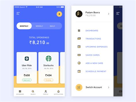 design application search banking app inspiration daily ui design inspiration