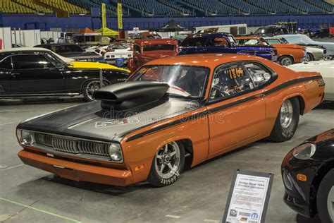 plymouth duster drag car editorial photography image