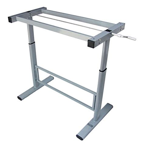 Manual Height Adjustable Standing Desk Leg Frame Stand Up