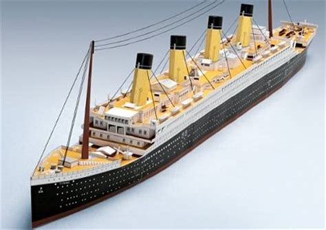 Papercraft Titanic - quot titanic quot out of paper papercraft