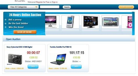 pay to bid auction snabid swoopo auction clone script business