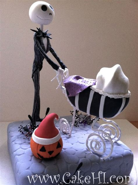 nightmare before christmas baby shower cake themed