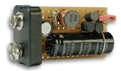 capacitor to battery charger 9v battery