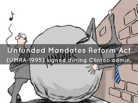 exles of unfunded mandates in unfunded mandates reform act of 1995 by isaeldelgadojai