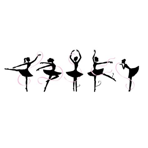 ballerina wall mural ballerinas paint by number wall mural by elephants on the wall