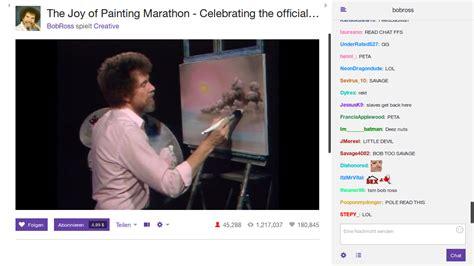 bob ross paintings twitch bob ross marathon bei twitch f 252 r maler bob ross