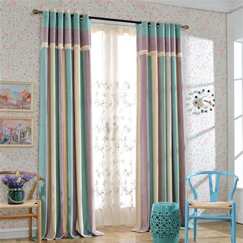 ready made bedroom curtains modern splice thick chenille strip curtains for living room ready made curtain for bedroom