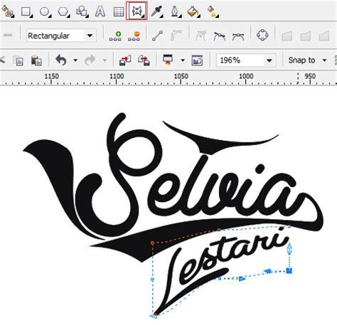 membuat logo huruf di coreldraw desain teks tipografi dengan mudah di coreldraw kumpulan