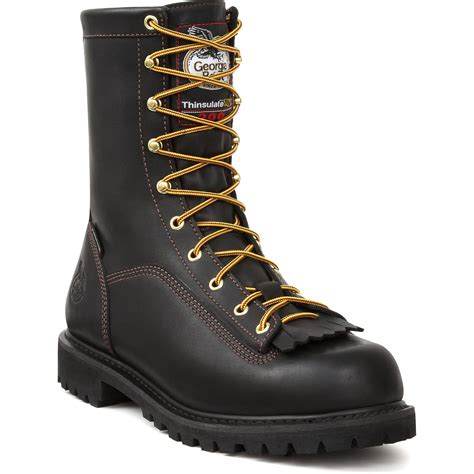 mens insulated low heel logger work boots ebay
