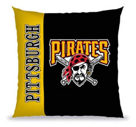 pittsburgh pirates bedding pittsburgh pirates 27 quot vertical stitch pillow