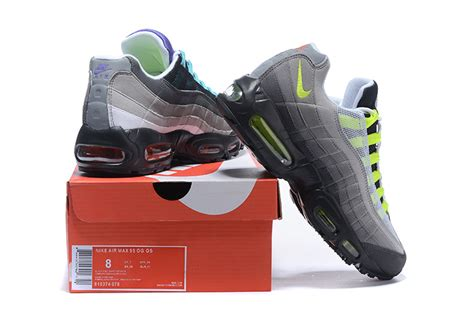 Nike Safety nike air max 95 og qs greedy black volt safety orange 810374 078 s running shoes fashion