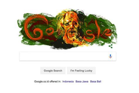 doodle yusuf doodle hari ini rayakan ulang tahun pelukis affandi