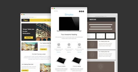 awesome email templates 10 awesome responsive email templates for newsletters narga