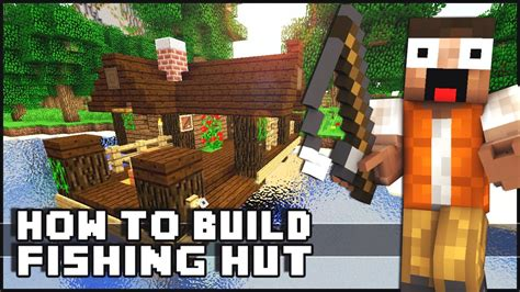 how to make a small house minecraft house tutorial small fishing hut youtube
