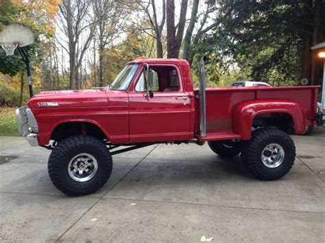 f250 long bed red 1967 f250 highboy long bed step side classic ford f