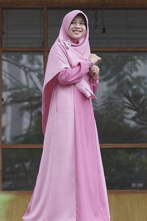 Set Smart Alila Gamis Set Khimar smart pink 1 set alila gamis syar i