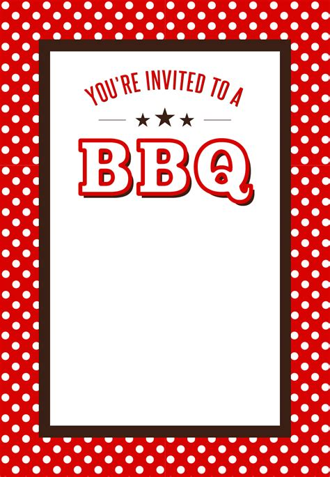 bbq invite template bbq invitation free printables bbq ideas