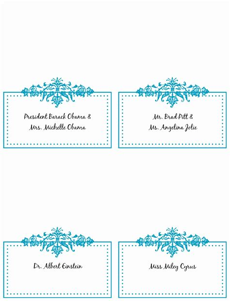 9 table place cards template word rawoz templatesz234