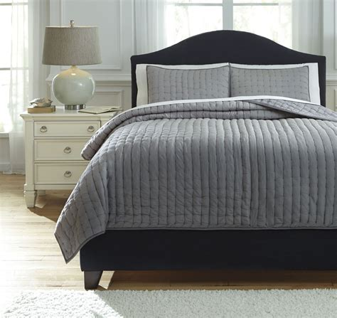 teague gray king comforter set from ashley q748003k
