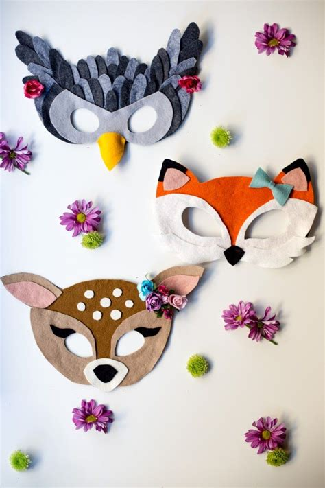 pattern for felt animal masks no sew free felt animal mask patterns animal masks