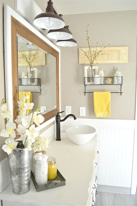 bathroom devor how to easily mix vintage and modern decor little