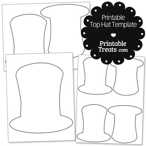 top hat template for printable top hat template printable treats