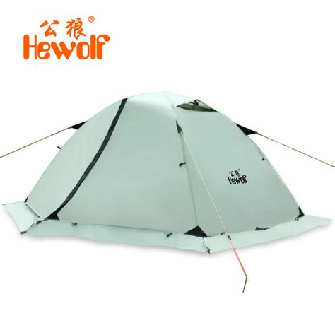 Tenda 2 Person Outdoor Tent Layer Cing Waterproof 3 Season hewolf strong layer aluminum pole 2 person