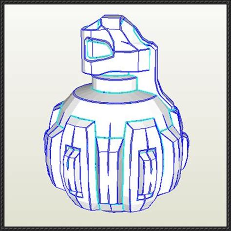 Papercraft Grenade - papercraftsquare new paper craft halo reach m9