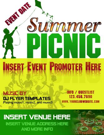 picnic flyer template free ms word picnic flyer template formal word templates