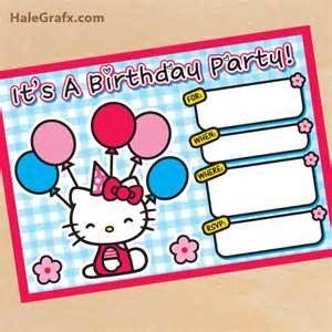 free printable hello birthday invitation