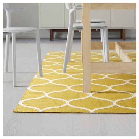ikea stockholm rug stockholm rug flatwoven handmade net pattern yellow