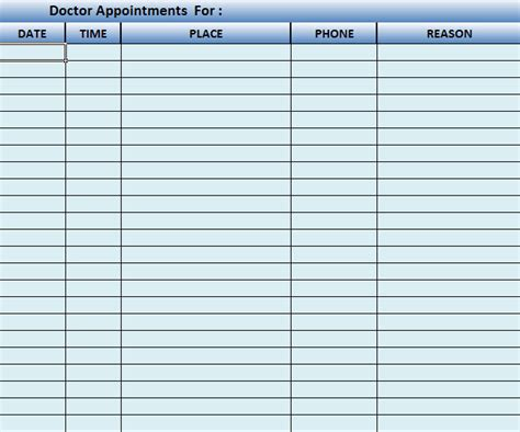 scheduling templates appointment schedule template for excel calendar