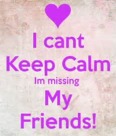 Wall Stickers Personalised i cant keep calm im missing my friends keep calm and