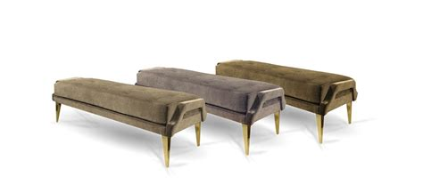 ignite couch bench with brass trim and velvet upholstery ignite koket