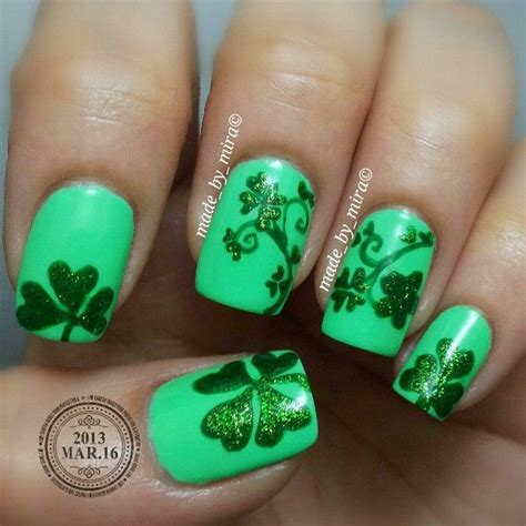 st pattern nails 128 best st patrick s day nail design images on pinterest