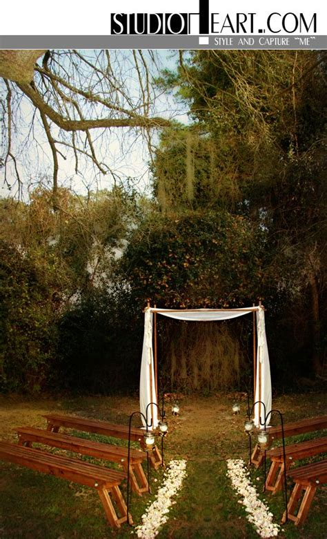 Small Backyard Wedding Ceremony Ideas Studio Intimate Wedding Ceremony Setting With Wood Benches And Huppa Wedding Ideas