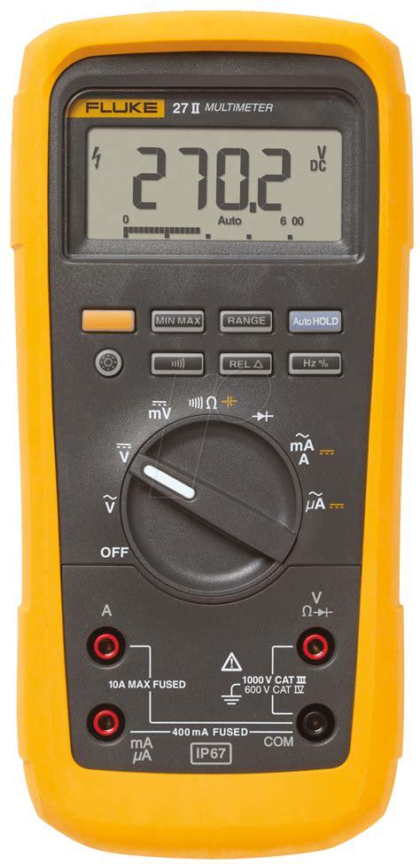 27 meters in fluke 27ii fluke 27 ii multimeter for industrial applications at reichelt elektronik