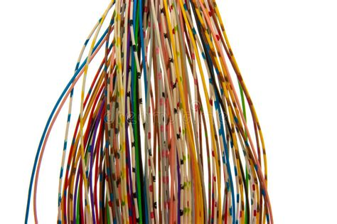 lots of colored wires stock photo image of line data
