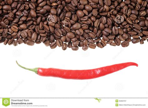 coffee and chili royalty free stock photography image