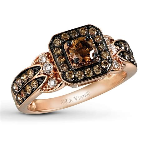 jared le vian chocolate 3 4 ct tw ring 14k